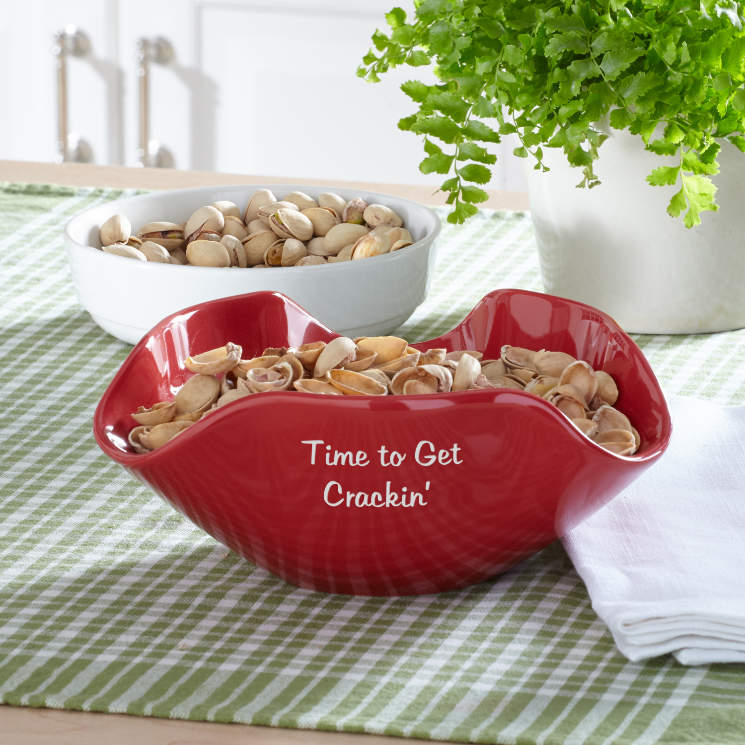 Personalized Any Message Snack Bowl - Script & Block Writing