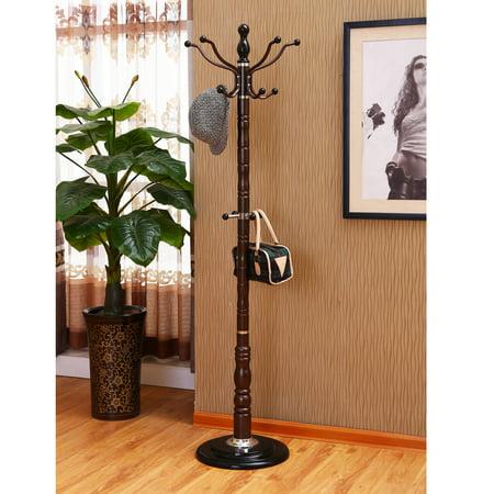 Home Source Sylvain Dark Espresso Finish Metal Coat Stand