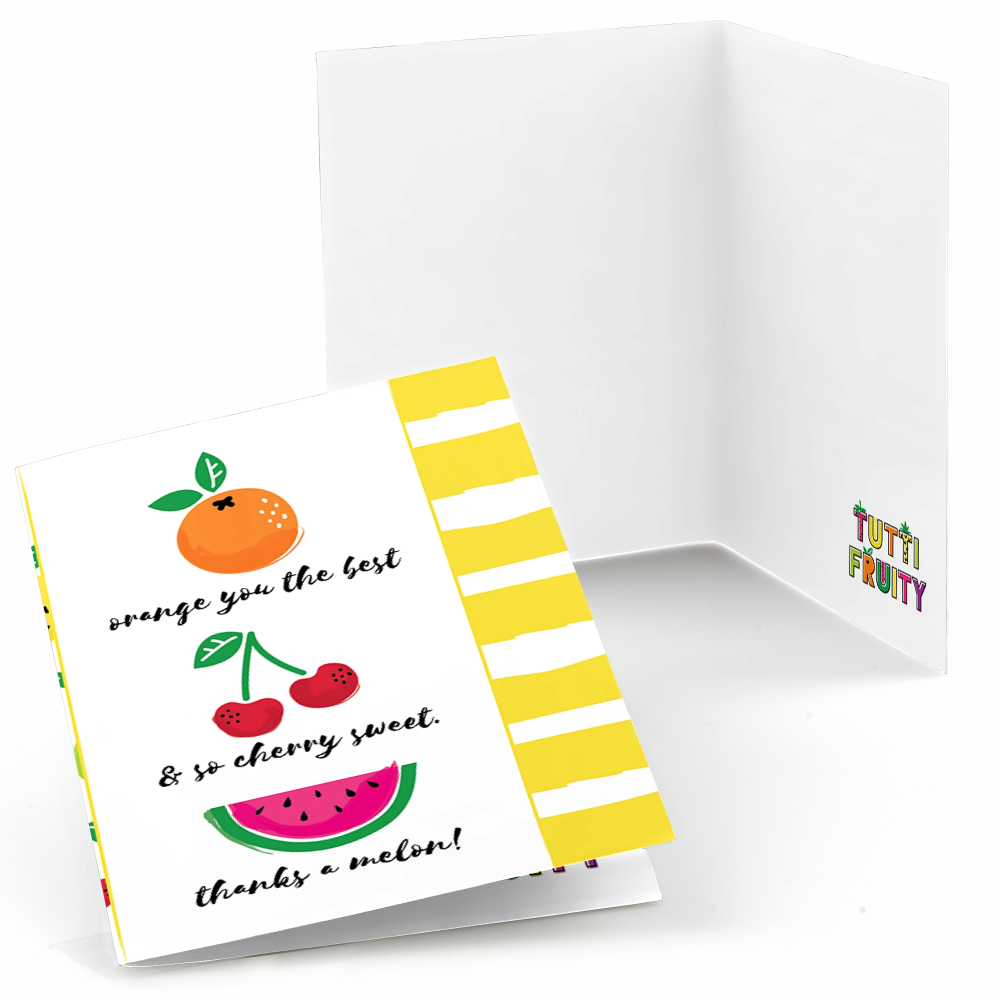Tutti Fruity - Frutti Summer Baby Shower or Birthday Party Thank You Cards (8 count)