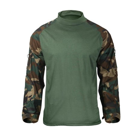 81538296 Rothco 90025 Woodland Camo Military Combat Shirt