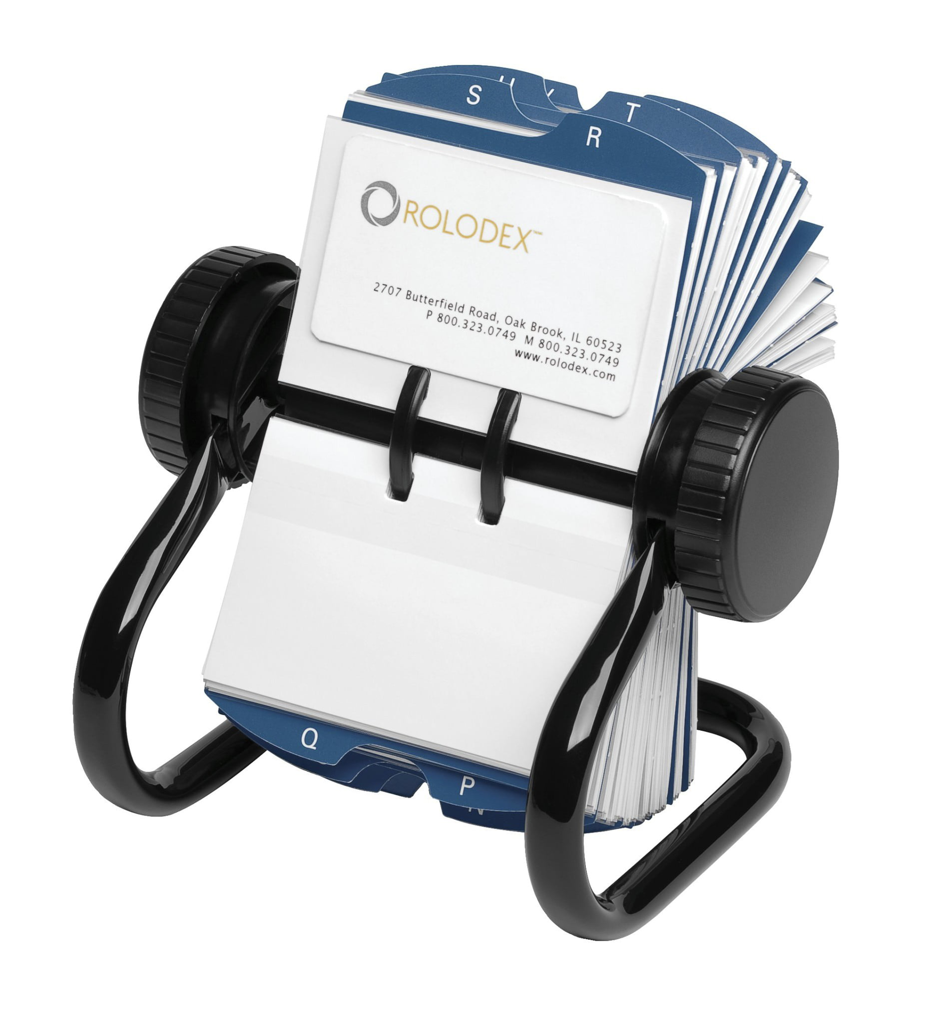 Rolodex Rotary Business Card Organizer, with 200 2-1/4 x 4 Inch ...
