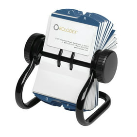 Rolodex colored open rotary business card file with 24 guides blue rolodex rotary business card organizer with 200 2 14 x colourmoves