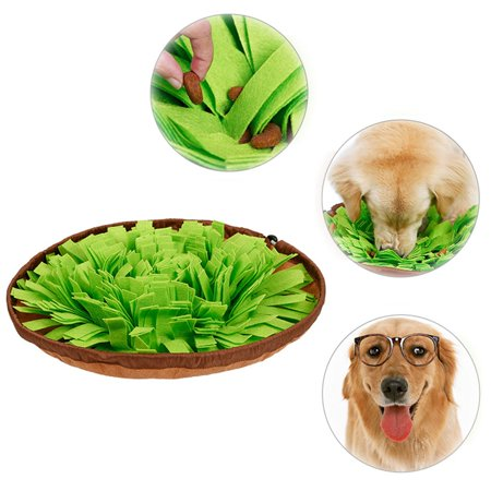 Dog Puzzle Toys, Pet Snuffle Mat for Dogs, Interactive Feed Game for Boredom, Encourages Natural Foraging Skills for Cats Dogs Bowl Travel Use, Dog Treat Dispenser Indoor Outdoor Stress Relief Kyjen Travel Bowl
