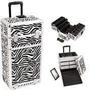 Sunrise I3462ZBWH Zebra Trolley Makeup Case
