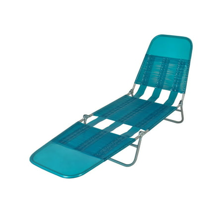 Mainstays Folding Jelly Chaise Lounge Chair Turquoise