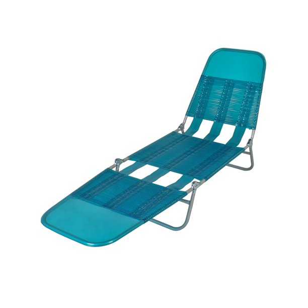 Mainstays Folding Jelly Chaise Lounge Chair Turquoise Walmart Com Walmart Com