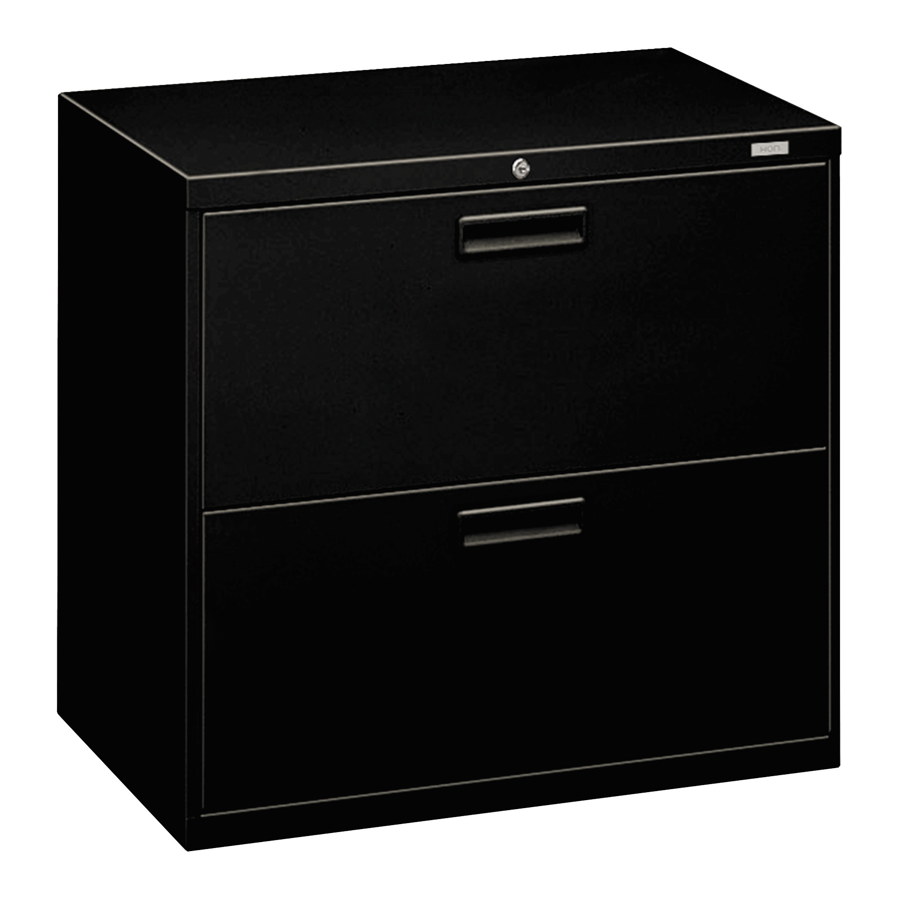 HON 2 Drawers Lateral Lockable Filing Cabinet, Black