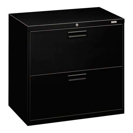 Hon 500 Series Two Drawer Lateral File  30W X 19 1 4D X 28 3 8H  Black