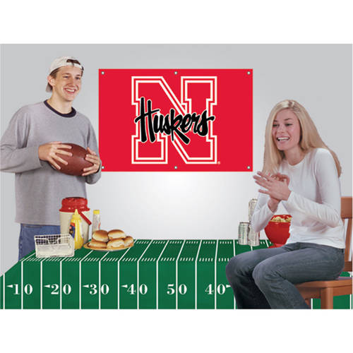 NCAA Football Party Kit, Nebraska Cornhuskers