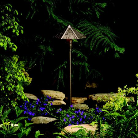 Kichler Woods 15401AZT Landscape 12V Path and Spread - 6.88 in. - Textured Architectural Bronze