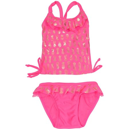 380b31e5c5c Real Love Little Girls Fuchsia Pineapple Print 2 Pc Tankini Swimsuit