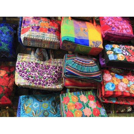 Handmade Bags, Handicraft Market, Oaxaca City, Oaxaca, Mexico, North America Print Wall Art By Wendy Connett