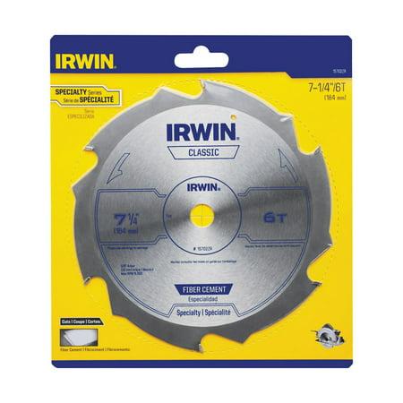 Irwin 7-1/4 Dia. x 5/8 in. Steel Classic Circular Saw Blade 6 teeth 1