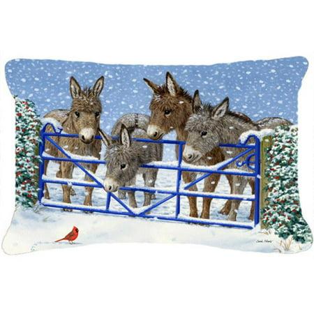 Caroline's Treasures ASA2209PW1216 Donkeys Cardinal Fabric Decorative Pillow, Large, Multicolor - image 1 de 1