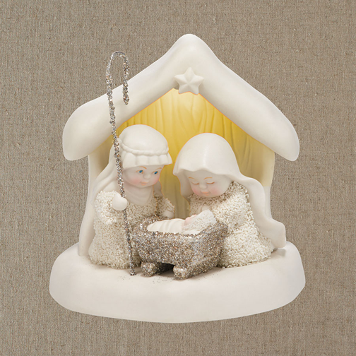 Dept 56 Snowbabies 4037333 Beneath The Christmas Star Nativity LED