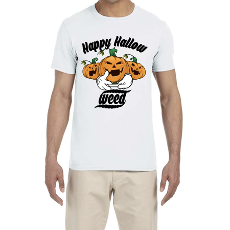 BROOKLYN VERTICAL Happy Halloweed Unisex Soft T Shirt - Halloween Funny Costume - Happy Halloween Funny Clipart