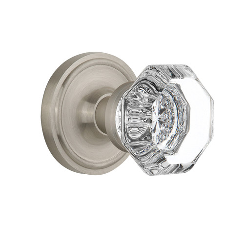 Nostalgic Warehouse Waldorf Single Dummy Door Knob with Classic Rosette