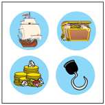 Incentive Stickers - Pirate (Pack of 1728) (Pirate Stickers)