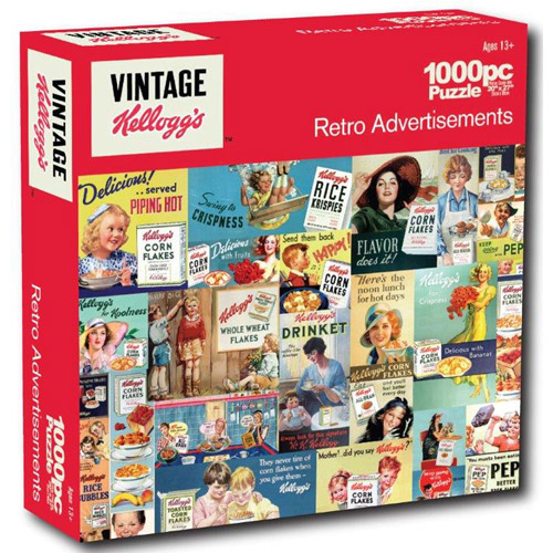 Kelloggs 1,000-Piece Puzzle, Retro Advertisments
