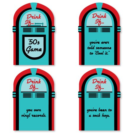 Drink If Game - 50's Sock Hop - 1950s Rock N Roll Party Game - 24 Count](Sock Hop Party Ideas)