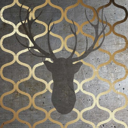 Metallic Deer Nature Poster Print by Andi Metz