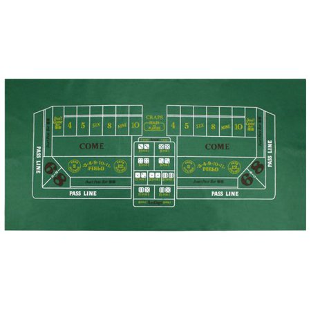 Brybelly Craps Dice Green Casino Gaming Table Felt Layout, 36