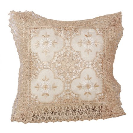 Astoria Grand Gregory Braided Luxurious Decorative Lace Cutwork Pillow Cover