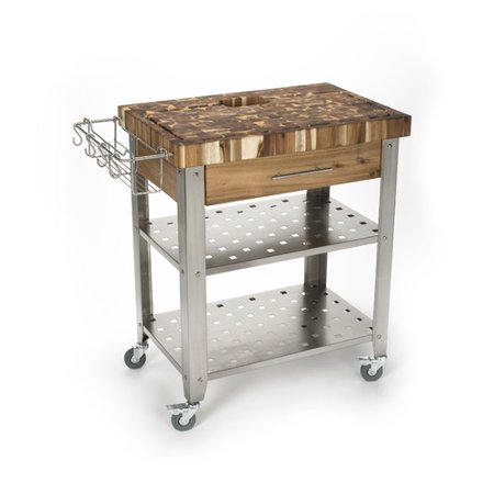 - Chris & Chris Kitchen Island with Butcher Block Top
