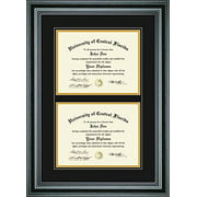 perfect cases pcfrm d4pm 85 x 11 in double diploma frame for diploma - Diploma Frames Walmart