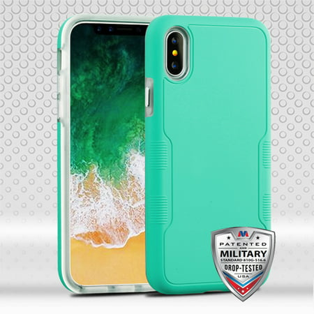 For iPhone XS/X TUFF Contempo Hybrid Impact Armor Shell Phone Protector Case