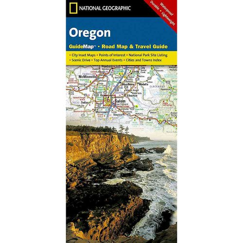 National Geographic State Guide Map Oregon: Guide Map - Raod Map & Travel Map