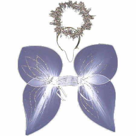 Angel Wings with Halo Set Adult Halloween Accessory