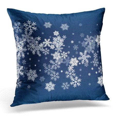 ARHOME Snow Flakes Falling Winter Snowflake Macro Water Freezing Parts Confetti Chaotic Scatter Cold Weather Pillow Case Pillow Cover 20x20 - Snow Confetti