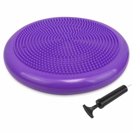 Balance Disc - Stability Wobble Cushion - Lumbar Support For Desk and Office Chair, Lower Back Pain Relief and Support - Kid's Wiggle Seat For Classrooms - Home Gym Workout Equipment - Pump