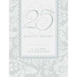 Wedding Elegance 25th Anniversary Invitations with Envelopes 8ct, Beautiful design! By Party Express (25th Anniversary Invitations)