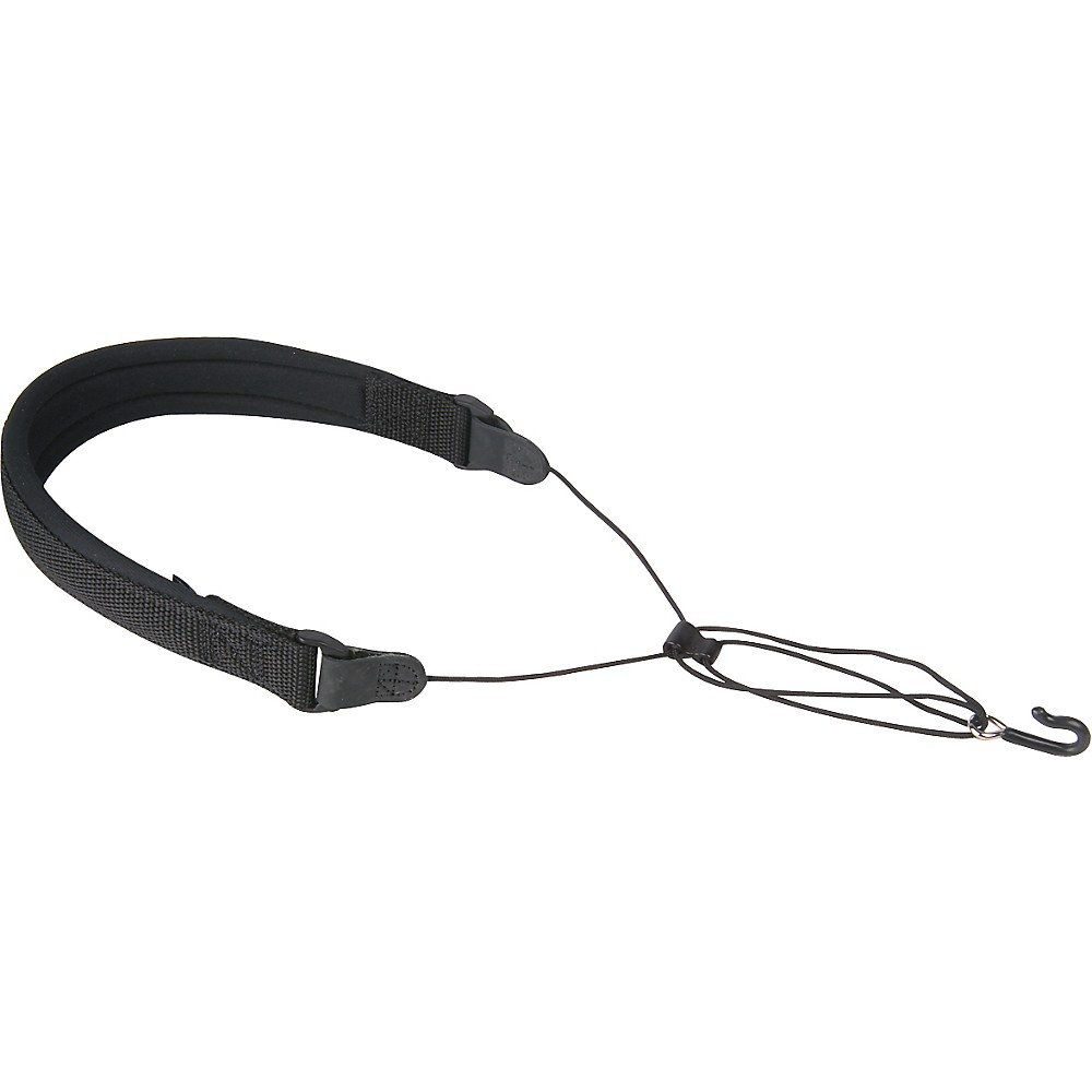 Neotech Wick-It Covered Metal Hook Sax Strap Black X-Long