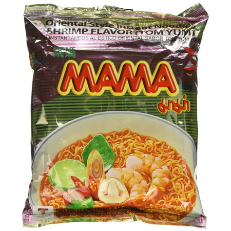 Mama Tom Yum Shrimp Flavored Instant Noodle, 2.12 Ounce (5 -