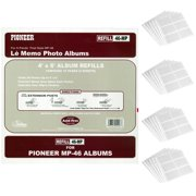 Pioneer Memo Pocket Album Refills 4x6 Inch for MP-46 Photo Albums (4-Pack Bundle)