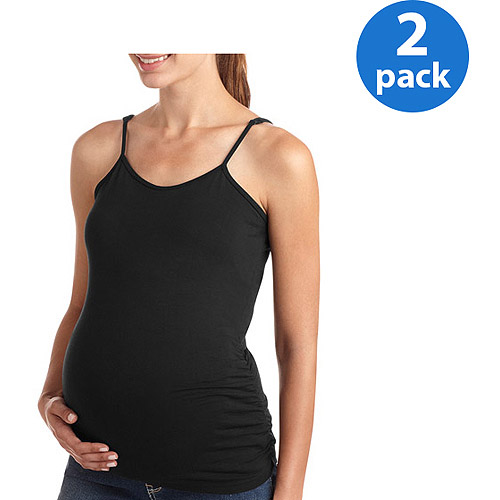 Oh! Mamma Maternity Basic Cami, 2-Pack Value Bundle