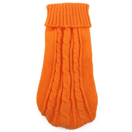 Dog Costumes Teddy Bear (Pet Teddy Woolen Knitted Sweater Coat Jacket Clothes Apparel Costume Orange)