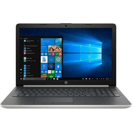 "HP 15-DA1005DX 15.6"" Touch-Screen Laptop - Intel Core i7 - 12GB Memory - 256GB Solid State Drive - Ash Silver Keyboard Frame, Natural Silver DVD-RW Burner Notebook PC Computer"