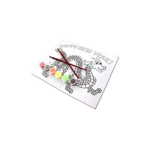 Paint-By-Number Chinese Dragon Craft Kit (Pack of 24