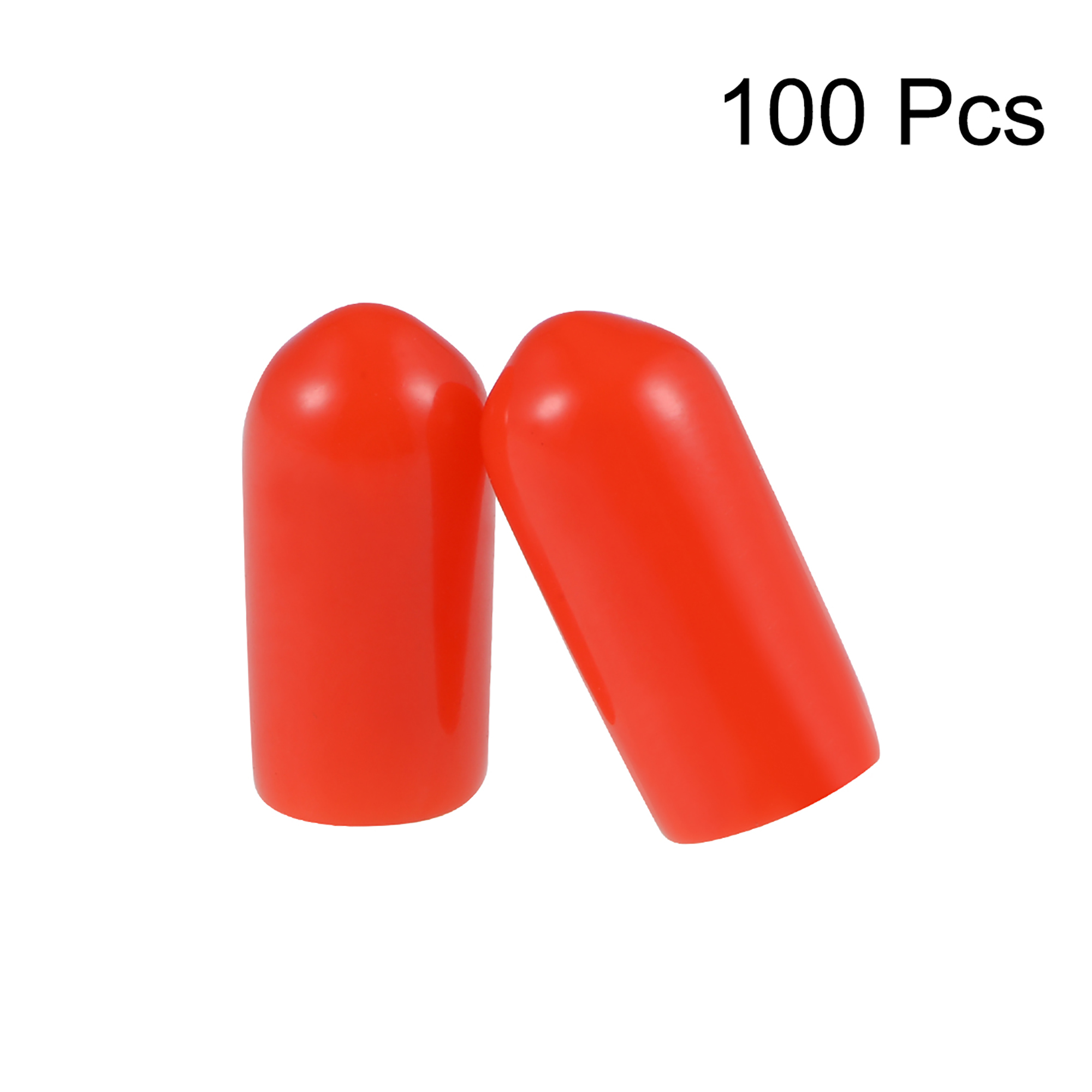 uxcell Screw Thread Protectors 5.5mm ID Round End Cap Cover Red Flexible Tube Caps Tubing Tip 100pcs