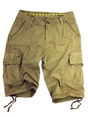 Stone Touch Men's Military Cargo Shorts #27Ss-BLK sizes:30