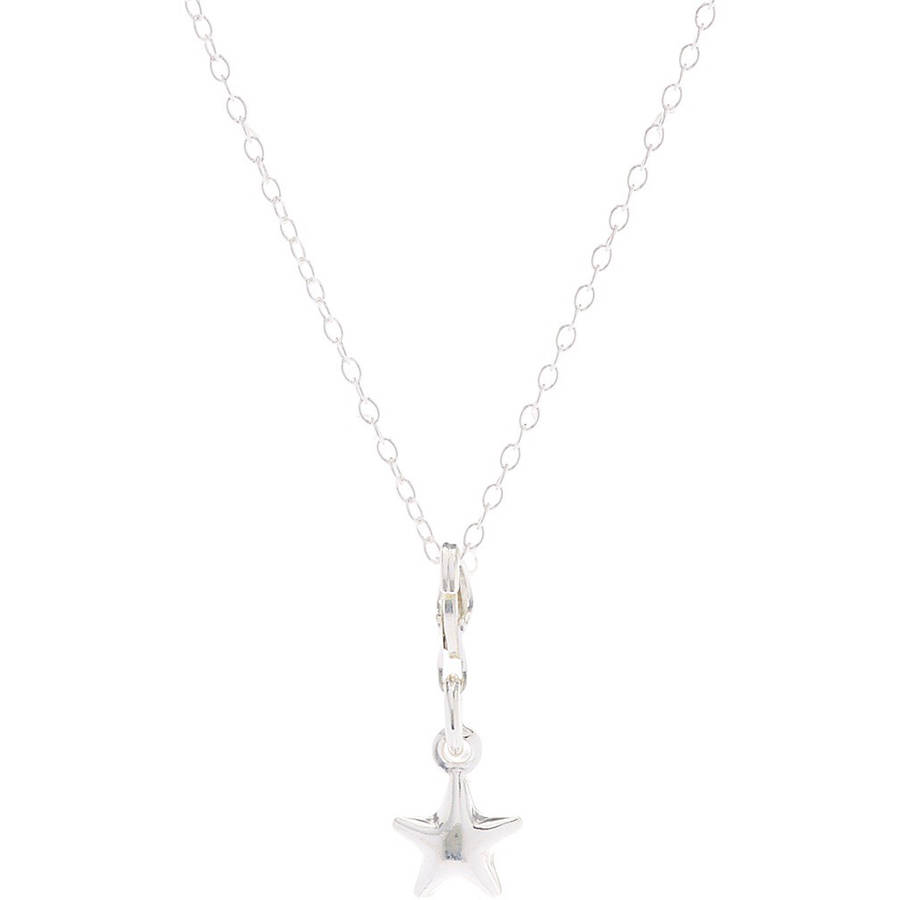 Pori Jewelers Sterling Silver Star Charm Pendant Necklace, 16