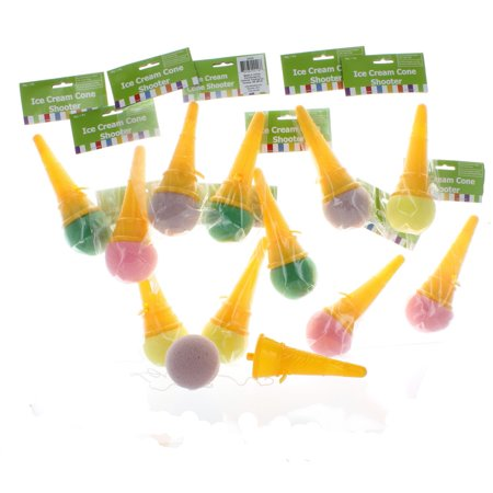 Lot of 12 Ice Cream Cone Shooter Party Favors 20/20 - Ice Cream Cone Decorations