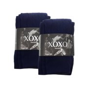 2 Pack XOXO Seamless Fleece Lined Leggings Cable Knit Pants Women Juniors Girls