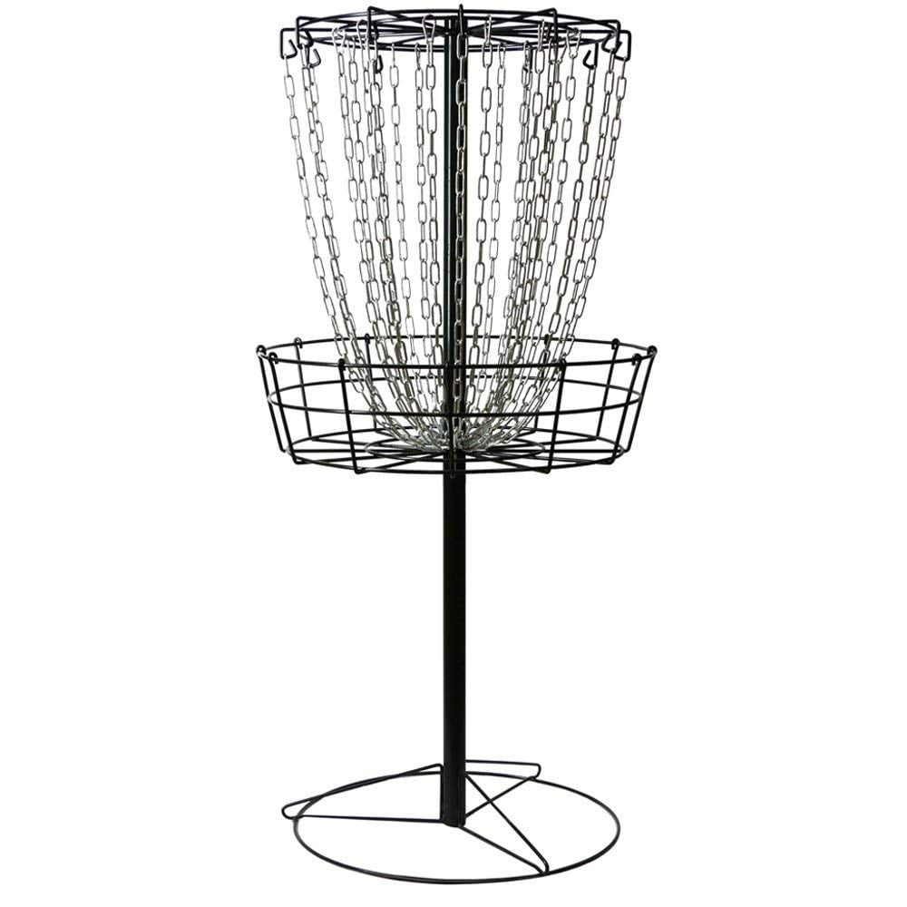 MVP Black Hole Practice 24-Chain Portable Disc Golf Basket Target by