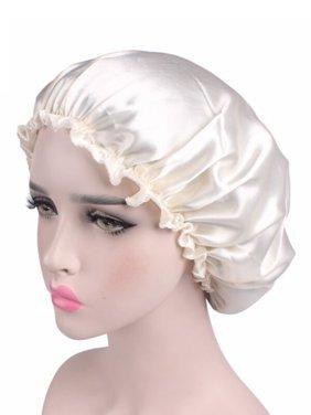 4284bc11d43 Product Image Womens Soft Pure Satin Silk Sleeping Caps Night Sleep Hats  Hair Scarves Bonnet