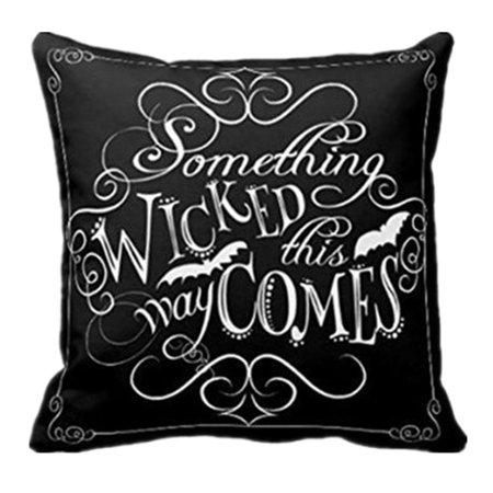 Halloween Display Board Ideas (Wicked Chalkboard Halloween Throw Pillow Cover Decorative)